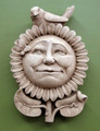 "GARDEN DECOR - ""SMILING SUNFLOWER"" STONE WALL SCULPTURE - AGED STONE FINISH"