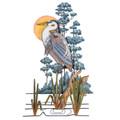WALL ART - GREAT BLUE HERON WALL SCULPTURE - LEFT FACING - COASTAL & NAUTICAL WALL DECOR