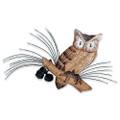 SCREECH OWL WALL SCULPTURE - LAKE HOUSE - LODGE DECOR