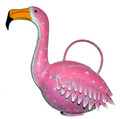 PINK FLAMINGO METAL WATERING CAN - GARDEN DECOR