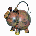 POTBELLY PIG METAL WATERING CAN - GARDEN DECOR