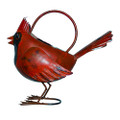 COLORFUL CARDINAL METAL WATERING CAN - GARDEN DECOR