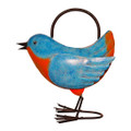 BRILLIANT BLUEBIRD METAL WATERING CAN - GARDEN DECOR
