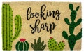 """SONORAN DESERT"" CACTUS COIR DOORMAT - WELCOME MAT - CACTI DOOR MAT"
