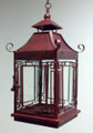 """MANDARIN PALACE"" PAGODA SHAPE CANDLE LANTERN - DISTRESSED CHINESE RED FINISH"