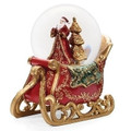 ELEGANT SANTA IN SLEIGH MUSICAL SNOW GLOBE - CHRISTMAS DECORATION