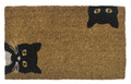 """PEEK-A-BOO"" BLACK CAT COIR DOORMAT - 18"" X 30"" - WELCOME MAT"