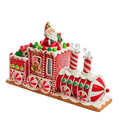 CHRISTMAS DECORATIONS - BATTERY OPERATED LIGHTED GINGERBREAD TRAIN