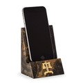 DESK ACCESSORIES - SCALES OF JUSTICE TIGER EYE MARBLE DESKTOP CELL PHONE HOLDER