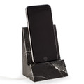 DESK ACCESSORIES - BLACK MARBLE DESKTOP CELL PHONE HOLDER - TABLET HOLDER