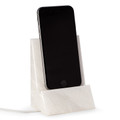 DESK ACCESSORIES - WHITE MARBLE DESKTOP CELL PHONE HOLDER - TABLET HOLDER