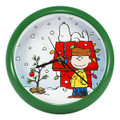 """CHARLIE BROWN CHRISTMAS"" WALL CLOCK - 8"" DIAMETER - SNOOPY - PEANUTS"