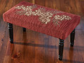 BENCHES - PINECONE UPHOLSTERED BENCH - HAND HOOKED SEAT COVER