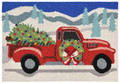 """CHRISTMAS DELIVERY"" INDOOR OUTDOOR RUG - 20"" x 30"" - CHRISTMAS TREE - CHRISTMAS WREATH"