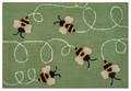 """BUSY BEES"" INDOOR OUTDOOR RUG - 24"" x 36"" - BEE RUG"