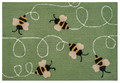 """BUSY BEES"" INDOOR OUTDOOR RUG - 20"" x 30"" - BEE RUG"