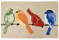 """BIRDS ON A WIRE"" INDOOR OUTDOOR RUG - 24"" X 36"" - BIRD RUG"