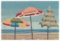 """A DAY AT THE BEACH"" INDOOR OUTDOOR RUG - 24"" x 36"" - NAUTICAL DECOR"
