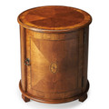 RUSHCLIFFE ROUND INLAID END TABLE - OLIVE ASH BURL FINISH - FREE SHIPPING