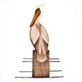 PELICAN ON PILING WALL SCULPTURE - NAUTICAL DECOR