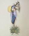 GREAT BLUE HERON AT SUNRISE WALL SCULPTURE - COASTAL DECOR