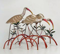 IBIS TRIO IN MANGROVE TABLETOP SCULPTURE - COASTAL & NAUTICAL DECOR