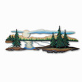 WALL ART - CASCADE LAKE METAL WALL SCULPTURE - LAKE & LODGE WALL DECOR