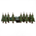 WALL ART - BLACK BEAR RIDGE METAL WALL SCULPTURE - LAKE & LODGE WALL DECOR