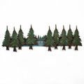 WALL ART - PINE LAKE METAL WALL SCULPTURE - LAKE & LODGE WALL DECOR