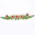 HIBISCUS GARLAND METAL WALL SCULPTURE - TROPICAL WALL ART