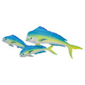 TRIO OF MAHI MAHI METAL WALL SCULPTURE - COASTAL & NAUTICAL DECOR