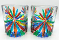 """""""SORRENTO"""" STEMLESS WINE GLASSES / OLD FASHIONED GLASSES - SET OF TWO"""