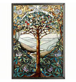 WALL ART - TREE OF LIFE ART GLASS PANEL - STAINED GLASS