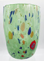 """ARLECCHINO"" MURANO GLASS STEMLESS WINE GLASS / OLD FASHIONED GLASS - MINT GREEN"