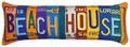 """BEACH HOUSE LICENSE PLATE PILLOW - 28"""" x 9"""" - OBLONG  PILLOW"""