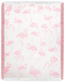 """FLAMINGO FLOCK"" THROW BLANKET - 48"" X 60"" - TROPICAL DECOR"