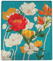 """""""COVENTRY GARDEN"""" THROW BLANKET - 50"""" X 60"""" - FLORAL THROW - PEONY AND POPPY"""