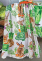 """BUNNIES IN THE CABBAGE PATCH"" THROW BLANKET - 50"" X 60"" - BUNNY - CARROTS"