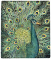"""MAJESTIC PEACOCK"" THROW BLANKET - 50"" X 60"""
