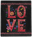 """ALL YOU NEED IS LOVE"" THROW BLANKET - 50"" X 60"" - FLORAL DECOR"