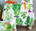 """CABBAGE PATCH"" POLYESTER TABLE TOPPER - 51.5"" SQUARE TABLECLOTH"