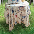 """PICNIC TIME"" POLYESTER TABLE TOPPER - 51.5"" SQUARE TABLECLOTH"