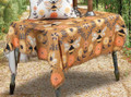 """""""BUSY BEE"""" POLYESTER TABLE TOPPER - 51.5"""" SQUARE TABLECLOTH"""