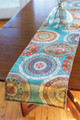 """PAINTED FEATHERS"" TABLE RUNNER - 13"" X 72"" - SOUTHWEST DECOR"