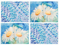 """DAZZLING DAISIES"" PLACE MATS - SET OF FOUR - FLORAL DECOR"