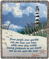 LIGHTHOUSE INSPIRATIONAL THROW BLANKET - FOOTPRINTS ON OUR HEARTS