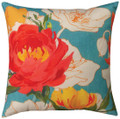 """""""COVENTRY GARDEN"""" INDOOR OUTDOOR PILLOW - 18"""" SQUARE - FLORAL DECOR"""