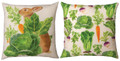 """CABBAGE PATCH"" REVERSIBLE INDOOR OUTDOOR PILLOW #1 - 18"" SQUARE"