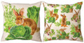 """CABBAGE PATCH"" REVERSIBLE INDOOR OUTDOOR PILLOW #2 - 18"" SQUARE"