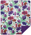 """LIMAHULI GARDEN"" FLORAL QUILT - 50"" X 60"" - POLYESTER QUILT"